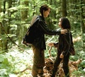 Katniss and Rue - the-hunger-games photo