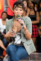Keri Hilson got her michael jackson shirt on - michael-jackson photo