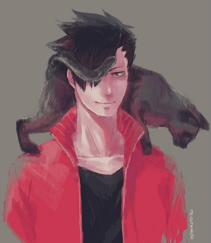 Haikyuu!!(High Kyuu!!) 壁纸 possibly with an outerwear, a surcoat, and a 兜帽, 罩, 发动机罩 called Kuroo Tetsurou
