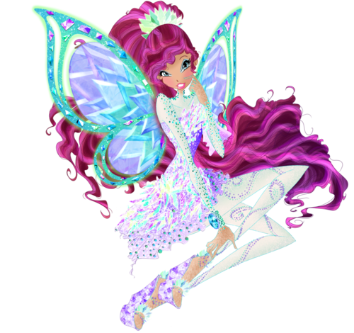 The Winx Club پیپر وال possibly with a bouquet and a rose entitled Layla Tynix