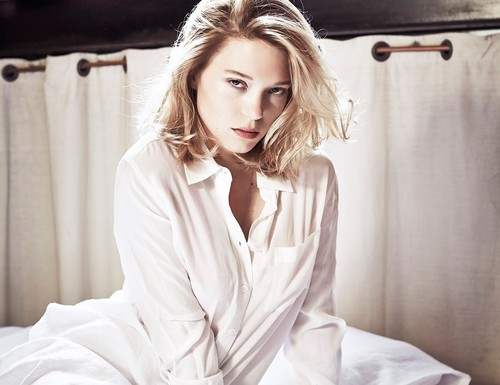 Lea Seydoux Wallpaper Possibly With A Bathrobe Nightwear And Well Dressed Person