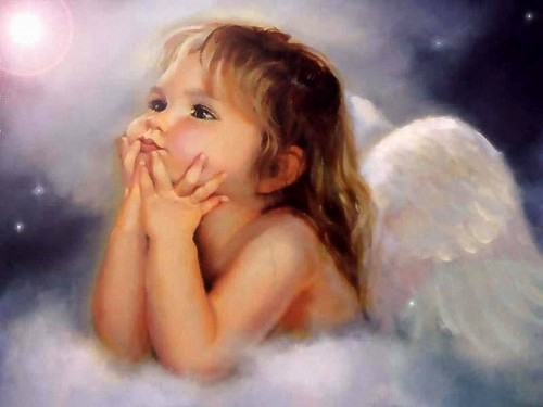 Angels wallpaper containing a hot tub and skin titled Little Angel Wallpaper angels 8047805 1024 768