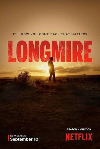 Longmire kertas dinding possibly containing a sign, a sunset, and a business district titled Longmire - Season 4 Poster