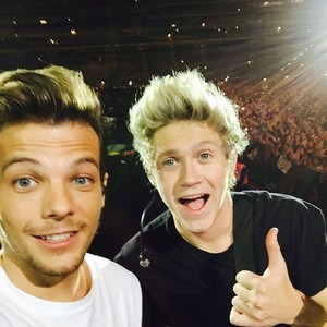Louis and Niall On Stage (selfie)