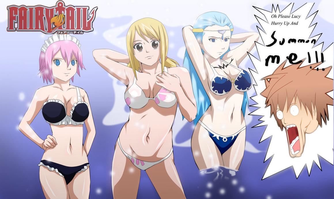 Lucy Heartfilia, Virgo and Aquarius Sexy Swimsuit