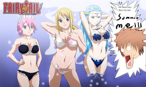 Lucy Heartfilia, Virgo and Aquarius Sexy स्विमिंग सूट