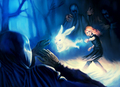 Luna Lovegood vs. Dementors - harry-potter fan art