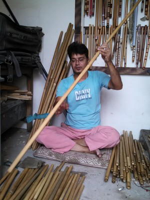 Making Bamboo Flutes