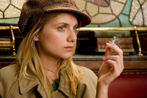 Inglourious Basterds wolpeyper possibly containing a fedora and a boater called Melanie Laurent as Emmanuelle Mimieux / Shosanna Dreyfus