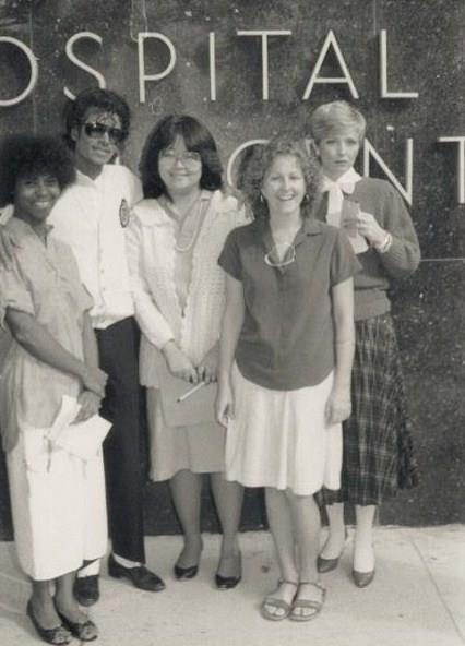 Michael with the ladies at Santa Monica Hospital