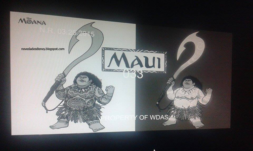 Disney's Moana Hintergrund possibly containing a sign called Moana - Maui Concept Art