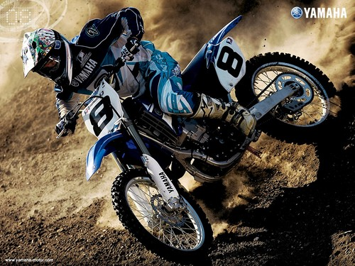Motorcycles Wallpaper Possibly Containing A Trail Bike Cycling And Mountain Titled Motocross Yamaha
