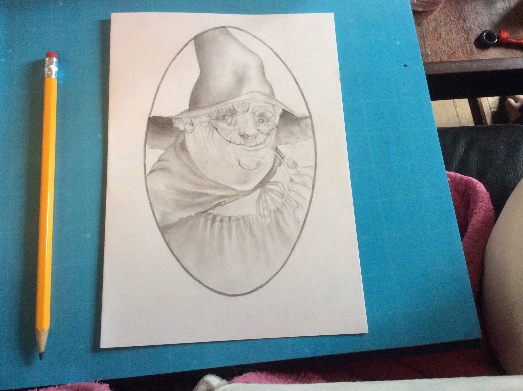 My drawing of Nanny Ogg. :)