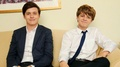 Nick Robinson and Ty Simpkins for an interview in Япония