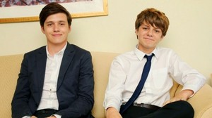 Nick Robinson and Ty Simpkins for an interview in Japan