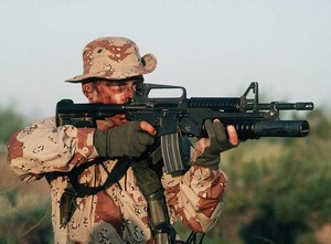 ORD M203 on M4 Carbine lg
