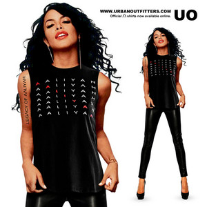 Official Aaliyah shirts now available on Urban Outfitters! ♥