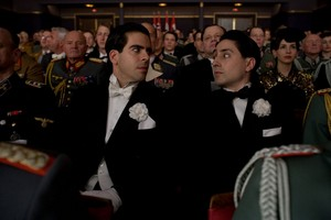 Omar Doom as Pfc. Omar Ulmer and Eli Roth as Sgt. Donny Donowitz