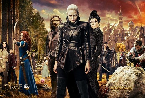 Once Upon a Time - Es war einmal... Hintergrund probably with a surcoat, wappenrock and a tabard, wappenrock titled Once Upon A Time Season 5 poster