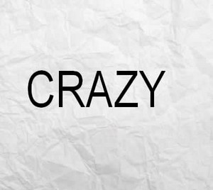 "One word ""crazy"""