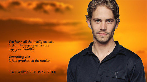 Paul Walker wallpaper possibly with a sunset and a portrait entitled Paul Walker