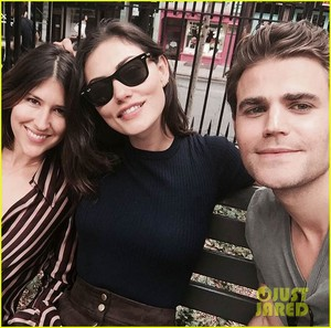Paul Wesley and  Phoebe Tonkin Couple Up for the U.S. Open!