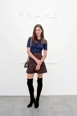 Phoebe Tonkin attends the Frame Denim SS16 at New York Fashion Week, 12nd september 2015