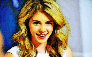 사진 to Painting Emily Bett Rickards