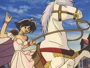 Princess Amelia on horse