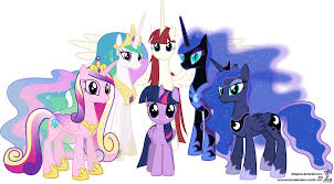 My Little Poney fond d'écran possibly containing animé titled Princess Celestia Princess Luna Nightmare Moon Princess Cadence Princess Twilight Princess Lauren Fa