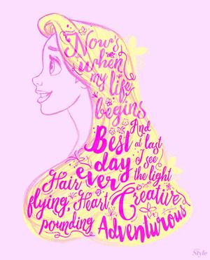 Rapunzel Typography