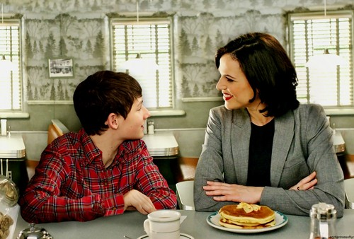 once upon a time wallpaper probably containing a holiday dinner, an antipasto, and a brunch titled Regina and Henry