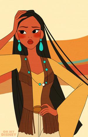 Retro Pocahontas