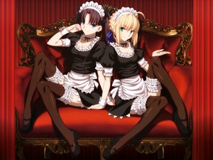 Rin & Saber Sexy Maid