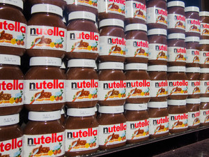 Rows of Nutella