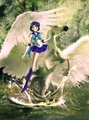 Sailor Mercury riding an Beautiful Pegasus - sailor-mercury fan art