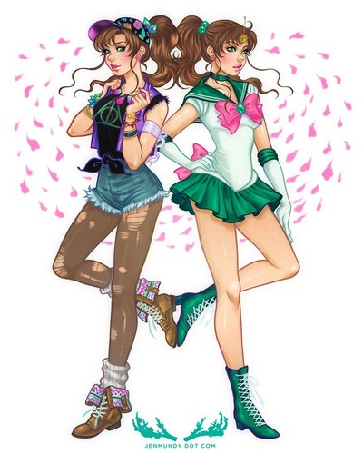 Sailor Moon Crystal wallpaper probably containing a hip boot entitled Sailor moon