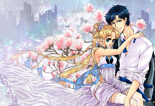 Sailor Moon Crystal fondo de pantalla probably containing a bouquet and anime titled Sailor moon