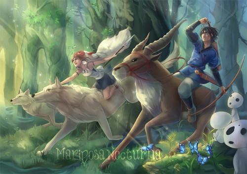 Princess Mononoke images San and Ashitaka HD wallpaper and ...
