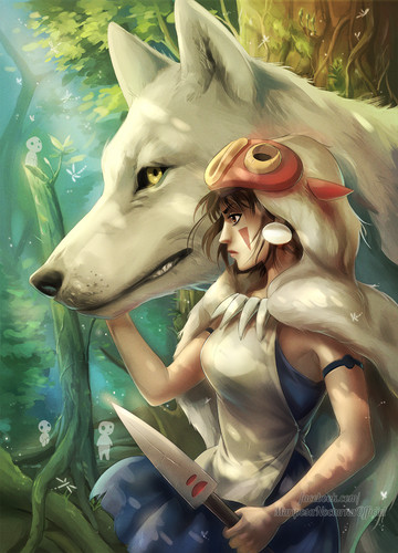 Princess Mononoke wallpaper called San and Moro