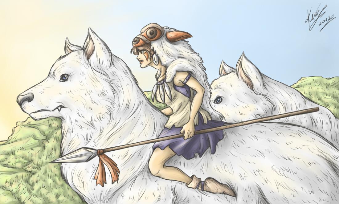 San And The Wolves Princess Mononoke Fan Art 38817473 Fanpop