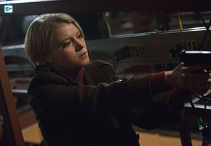 Sarah Jones as Detective Rebecca Madsen in Alcatraz