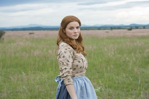 Sarah Jones as Pauline Wykoff in Texas Rising