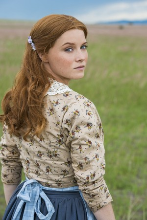 Sarah Jones as Payline Wykoff in Texas Rising