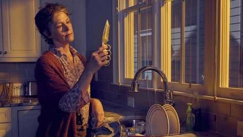द वॉकिंग डेड वॉलपेपर possibly containing a living room, a spatula, and a drawing room entitled Season 6 ~ Carol Peletier