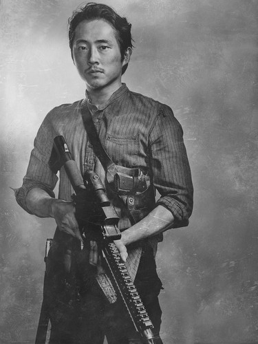 The Walking Dead wallpaper possibly with a rifleman called Season 6 Character Portrait ~ Glenn Rhee
