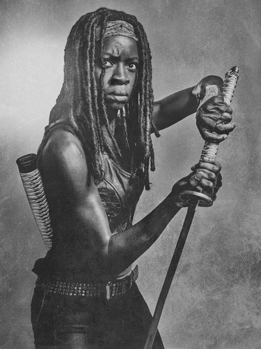 The Walking Dead karatasi la kupamba ukuta titled Season 6 Character Portrait ~ Michonne