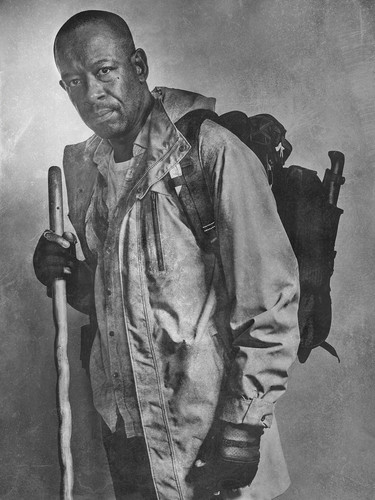 The Walking Dead karatasi la kupamba ukuta probably containing a green beret, vita mavazi, mavazi ya vita, and a rifleman entitled Season 6 Character Portrait ~ morgan Jones