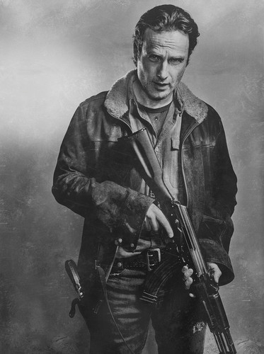 The Walking Dead wallpaper containing a rifleman entitled Season 6 Character Portrait ~ Rick Grimes