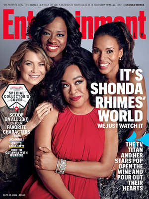 Shondaland Cover on Entertainment Weekly